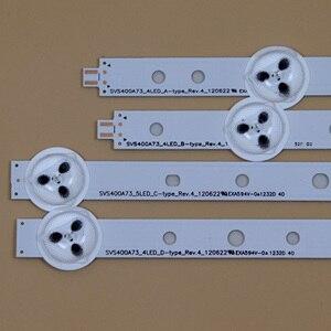 Image 2 - TV LED ışıklı çubuklar Philips için 40PFL3208T/60 40PFL3208H/12 40PFL3108T/60 40PFL3078/12 arkadan aydınlatmalı şerit kiti LED lambalar lens 10 bantları
