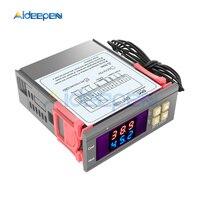 AC 220V DC 12V 24V DST1020 светодиодный двойной дисплей цифровой регулятор влажности воздуха термостат DS18B20 датчик водонепроницаемый зонд