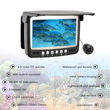 "800TVL HD ICE Underwater Camera Fishing Finder Video Fish Finder Infrared 4.3"" LCD Monitor 15m Cable Night Vision Visual Camera"