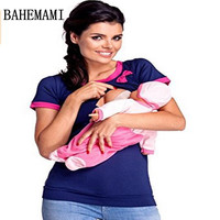 Bahemami Maternidad embarazo Top verano lactancia Maternidad enfermería t-shirt embarazo ropa Maternidad Tops 2018