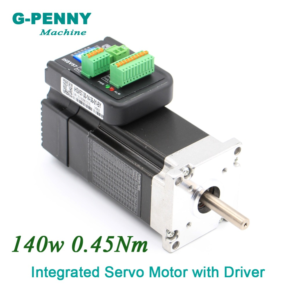 Free Shipping! Integrated Servo Motor with Driver 140w 36VDC 3000rpm 0.45Nm 6.0A Mini Servo Motor with driver free shipping 400w servo motor kit 1 27n m 3000rpm 60st ac servo motor 60st m01330 matched servo driver free wire