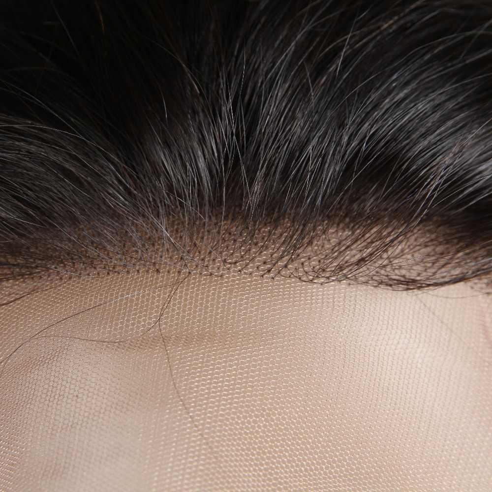[Berrys Moda] Tam sırma insan saçı Peruk Vücut Dalga 130% Yoğunluk Doğal Saç Çizgisi Ücretsiz Bölüm Perulu Remy Saç
