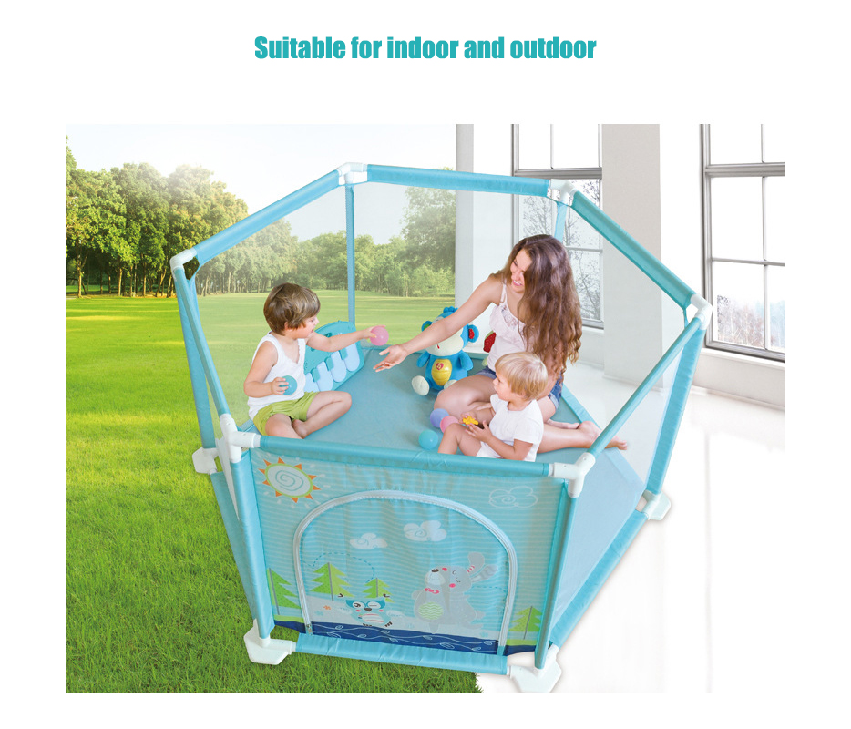 Plastic Baby Playpens With Net Material For 0 To 36 Months Children 2