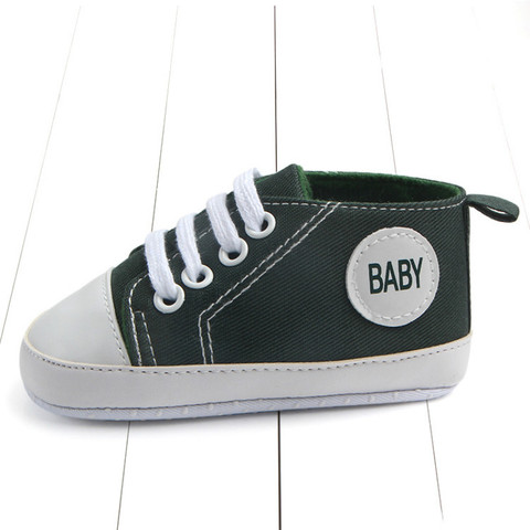 New Canvas Classic Sports Sneakers Newborn Baby Boys Girls First Walkers Shoes Baby Shoes Breathable Canvas Shoes Multan