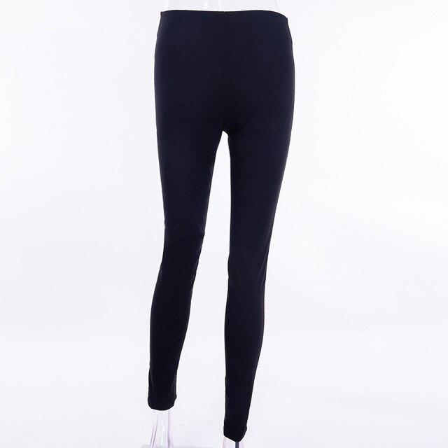Gothic harajuku Grunge pants women zipper fold streetwear pencil casual Fashion pant black chic Summer long trousers Streetwear 6
