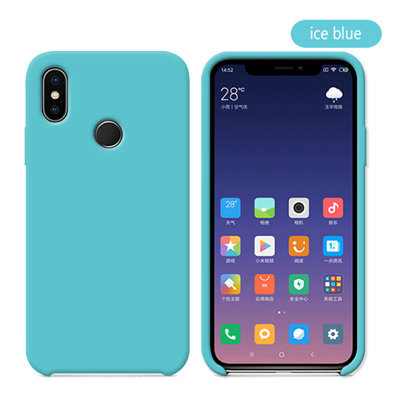Original With Logo Silicone Phone Case For Xiaomi Mi 8 8 SE Mi 6X A2 Mix 2S Case Official Cover For Xiaomi Cases With Retail BoX (20)