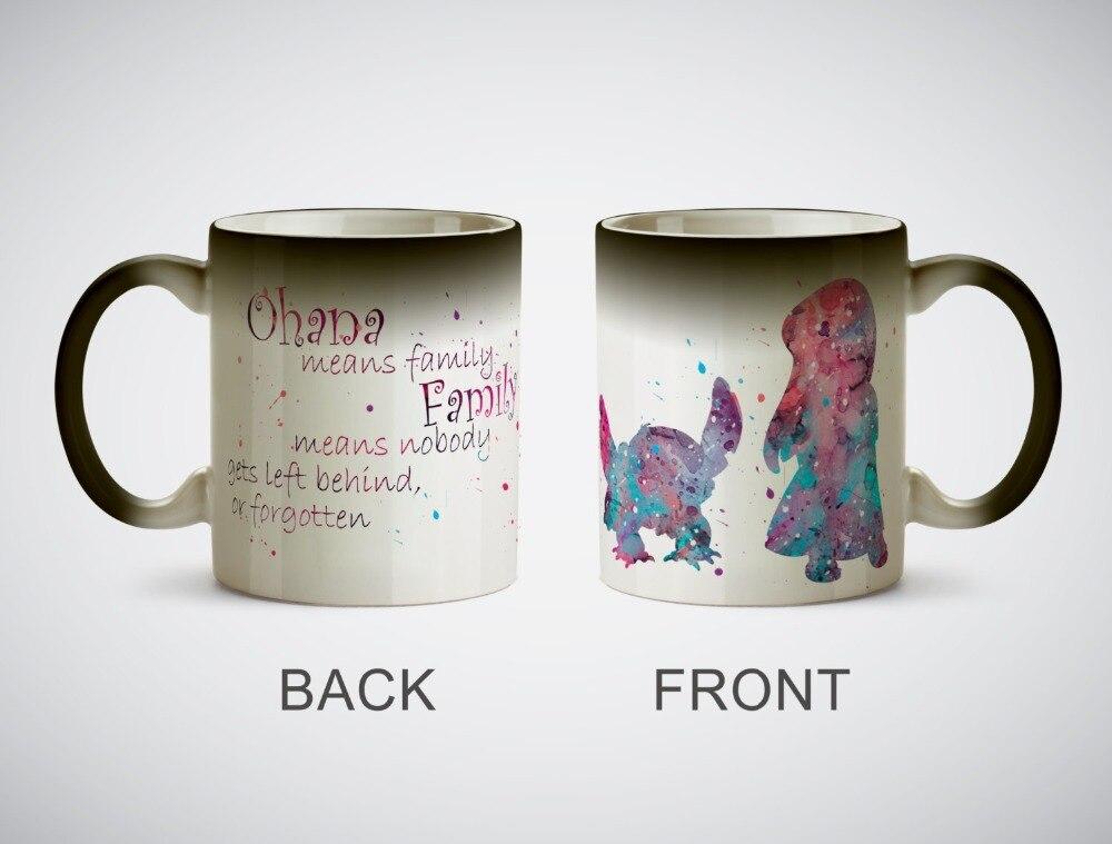 Lilo and Stitch mugs heat reveal heat sensitive ceramic mug magic tea cups coffee mugen transforming