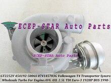 Free Ship GT2252V 454192 454192-0006 454192-0005 454192-0002 074145703GX GV Turbo For VW T4 Bus Transporter Syncro AVG AXL 2.5L