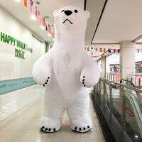 Polar Bear надувной костюм талисмана костюм для рекламы 2 м 2,6 м 3 м забавные вечерние платье Косплэй Хеллоуин костюм для взрослых