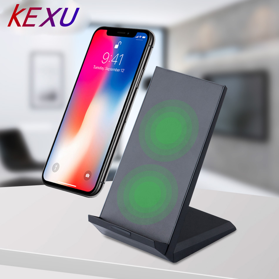 Qi Wireless Charger for iPhone X// 8// 8 Plus Nexus 5 // 6 // 7 Wireless Charging Pad for Galaxy S8// S8+// S7 // S7 edge // S6 edge+ and Note 5 -with USB Cable