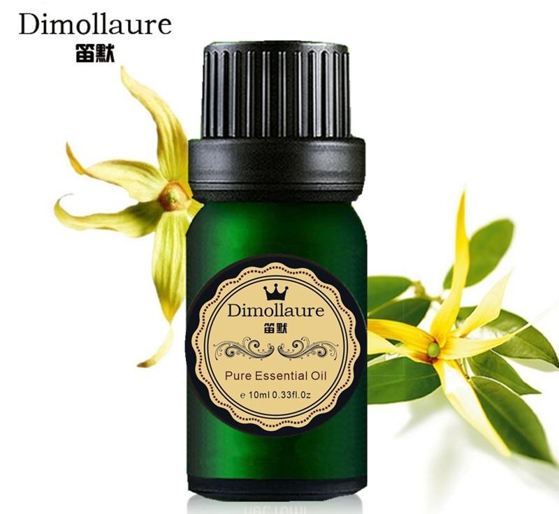 Dimollaure Ylang Minyak Esensial perawatan kulit SPA pijat Keterlambatan penuaan menghilangkan stres Aromaterapi Aroma Lampu minyak esensial tanaman