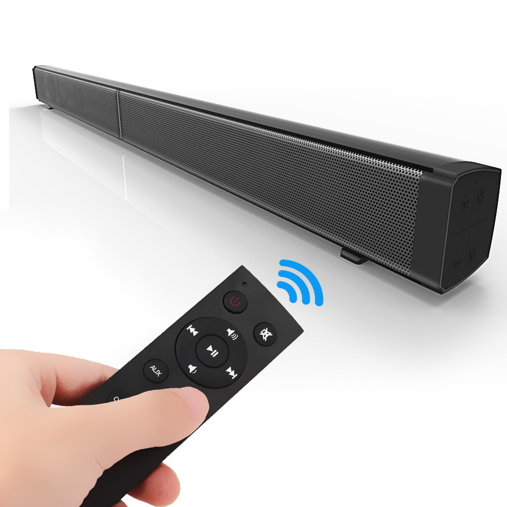 Soundbar Bluetooth Speaker Household Wall Mount Wireless Remote Control TV Echo Wall Multi diaphragm unit Subwoofer music player