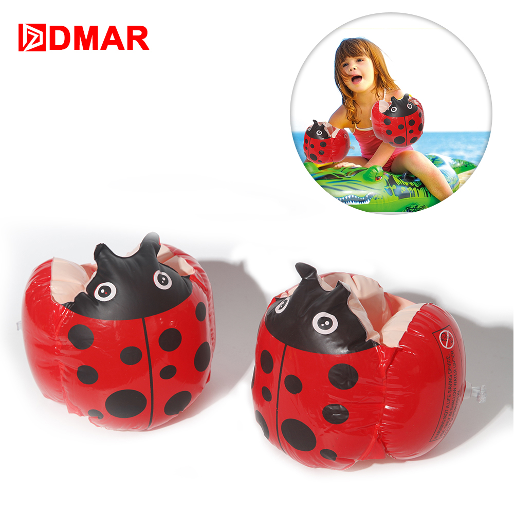 DMAR Inflatable Ladybug Frog Swim Arm Bands Float For Kids Baby Pool Float Toys Infants Swimming Ring Beach Sea Water Party