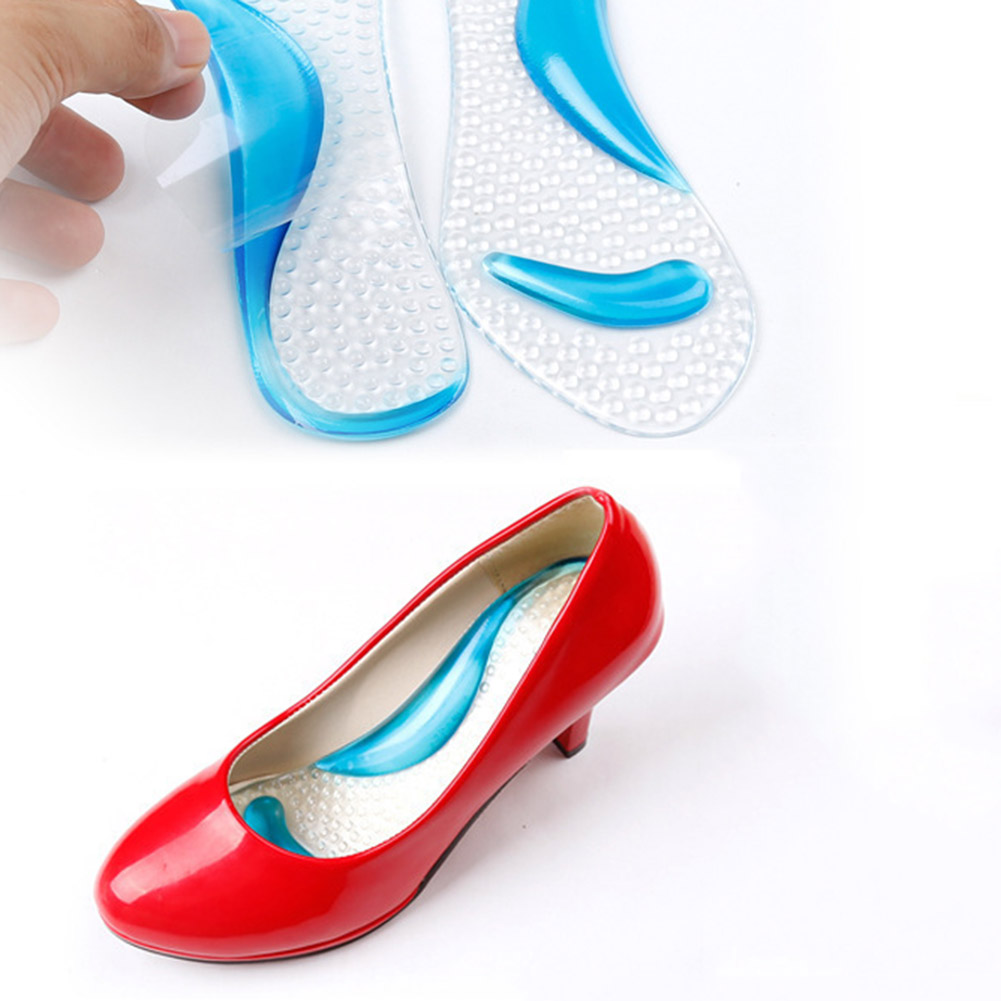 Thick silicone 3/4 length Arch Support Women Anti-slip Massaging Metatarsal Cushion Orthopedic Insoles for High Heels Shoes