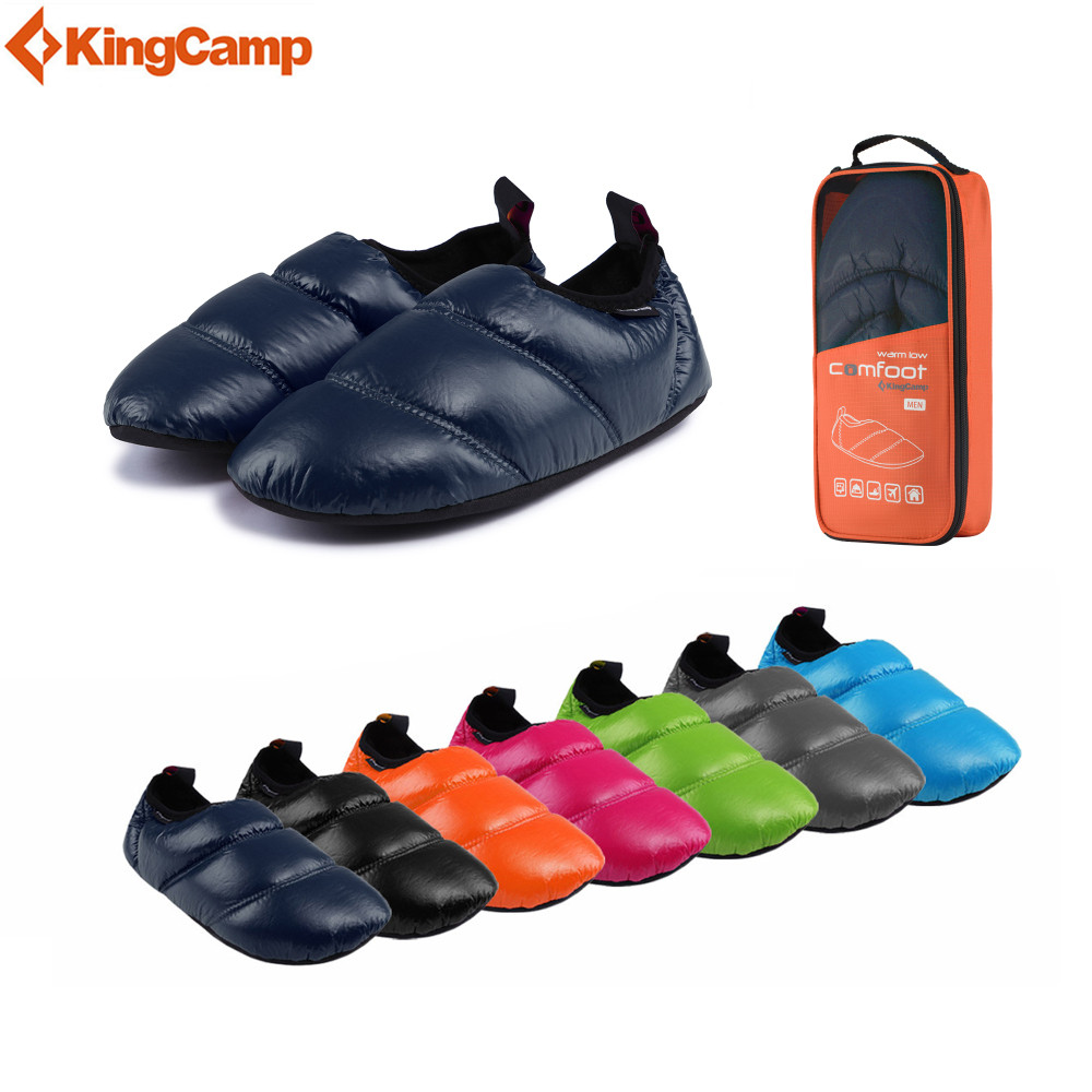 KingCamp Winter shoes woman Shoes man Comfort Waterproof Hollow Fiber Warm shoes Anti-skidding Rubber sole for women/men палатка kingcamp bari fiber 6 blue