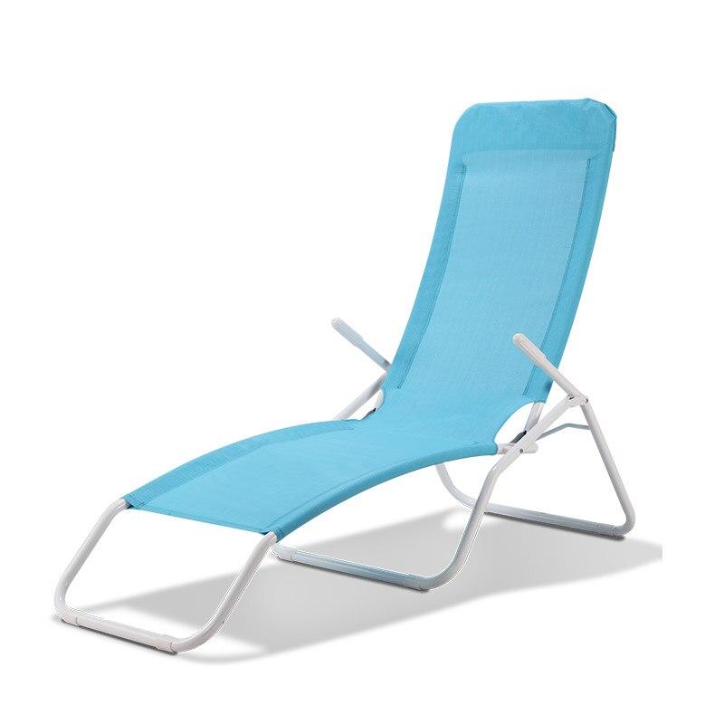 Réglable Chaise longue Chaise Inclinable En Plein Air Pliage Salon Chaise Transat Patio Piscine Chaises longues Chaise dans Chaises de plage de Meubles