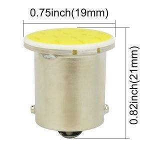 Image 2 - Safego 10pcs 1156 BA15S P21W 12V 칩 LED COB 전구 자동 자동차 백업 테일 턴 신호 조명 램프 화이트 6000k