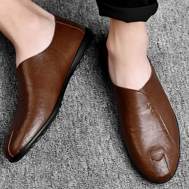 HTB1e3yTavvsK1Rjy0Fiq6zwtXXaB Leather Men Shoes Luxury Brand 2019 Italian Casual Mens Loafers Moccasins Breathable Slip on Black Driving Shoes Plus Size 38-47