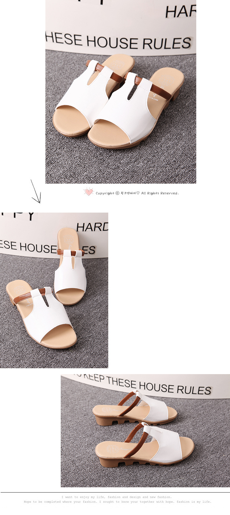 New Summer Slipper Women Slippers Slides Women Sandals Slippers Word Hollow out Women Single Sandals Non-slip Fashion B1210 9
