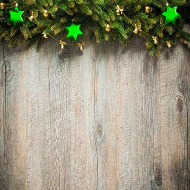 Weihnachten Kiefer Zweig Grün Sterne Holz Wand Weihnachten ...