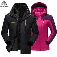 Plus Size 5XL 6XL Winter Jacket Men Women Cotton Down Parka Warm 2 In 1waterproof Windproof