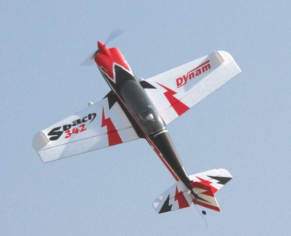 Dynam 1250MM Sbach 342 RC PNP/ARF Propeller Plane Model W/ Motor ESC Servos цены