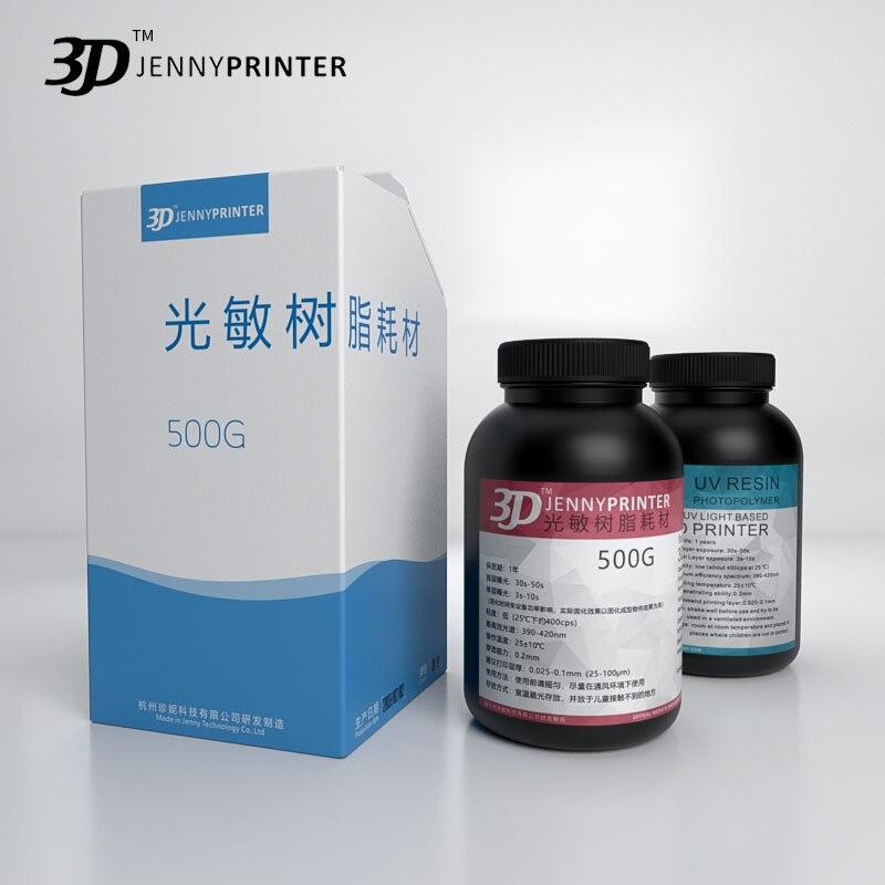 Résine UV photosensible de matériel d'impression liquide de haute précision de traitement UV de 1L Jenny 405nm pour la résine d'imprimante 3d d'affichage à cristaux liquides d'imprimante 3D