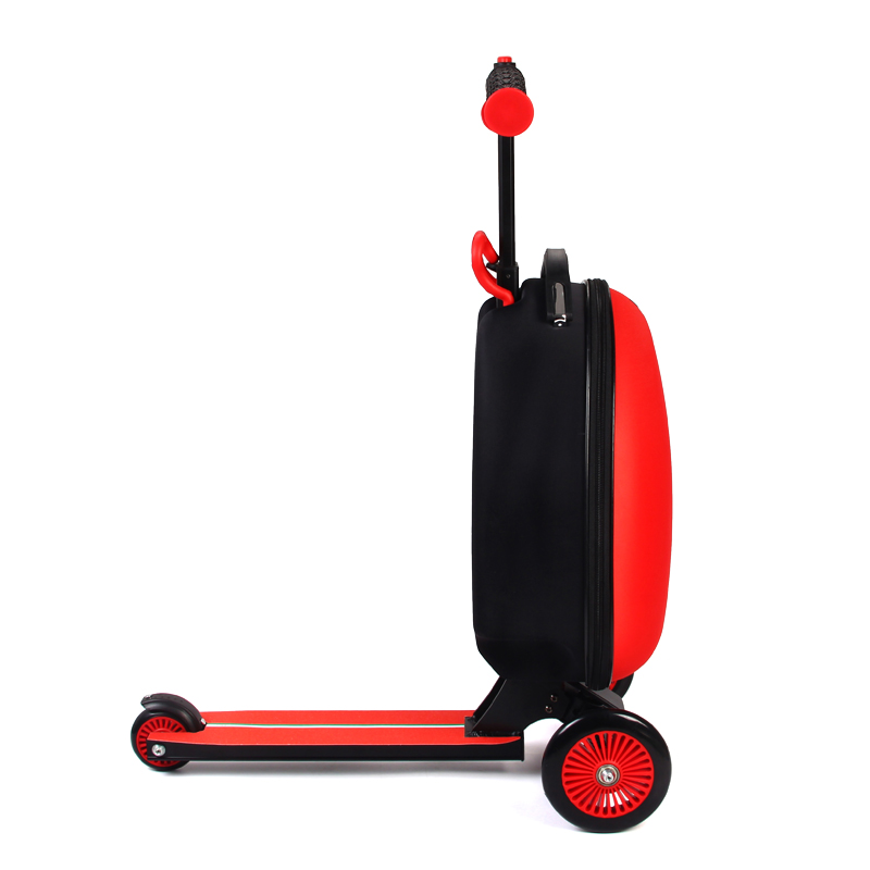 Ferrari dzieci podróży torba na pokład wózek do bagażu walizka skuter składany podróży Kick Push 3 koła dla 3-10 lat dzieci