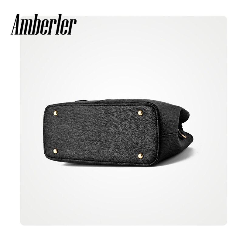Amberler Women Handbag Luxury Handbags Women Bags Designer PU Leather Bag For Ladies Hand Bag Big Casual Tote Shoulder Set Bag 6