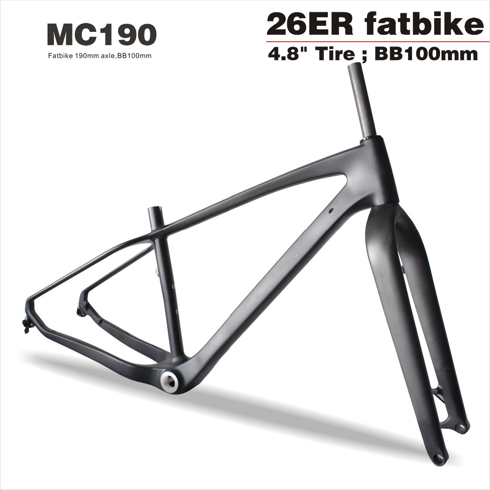 2018 MIRACLE Bikes Inner cable 26in Carbon Bike Frame/Fork Carbon Fatbike Frame 26er*4.8