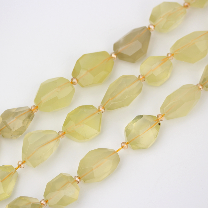 Approx 11Pcs/strand Faceted Nugget Lemon Quartz Beads Pendants Bracelet,Drilled Raw Quartz Loose Beads Jewelry Making EF CT 289