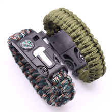 JUFIT Multi-functional Outdoor Bracelet Camping Hiking Survival Gear Escape Multi Tool Whistle Knife