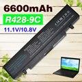 6600 mah 9 celdas de batería portátil para samsung r540 aa-aa-pb9nc6w pb9ns6b aa-pb9nc5b aa-pb9nc6b r518 r519 r520 r522 r540 r580 r610