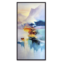 (No Framed) Factory wholesale Chinese landscape ink series Custom Canvas Print On Printing Wall Pictures Home Decoration