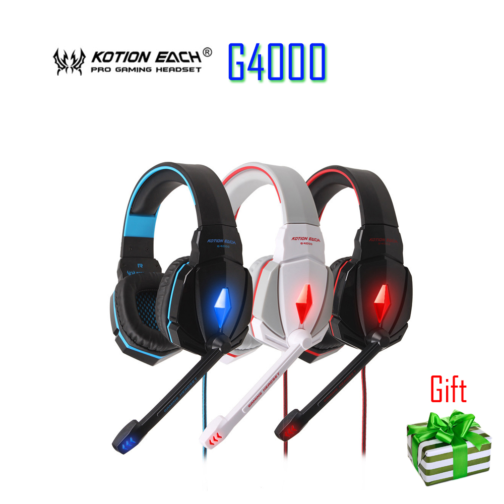100% original  KOTION EACH G4000 Stereo Gaming Headphone Headset Headband with Mic Volume Control for PC Game high quality flag custom finish left handed es electric guitars china hollow body