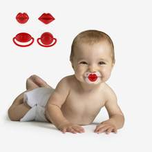 Silicone Baby Pacifier Funny Red Lip Teeth Nipple Pacifier Mouth Infant Dummy Soother Teether Pacy Orthodontic Nipple Pacifiers(China)