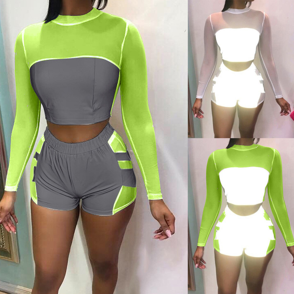 Biker Shorts Two Piece Set Summer Clothes For Women Plus Size Biker Shorts  Jogging Femme White Sling Set ShortsкомплектZ4