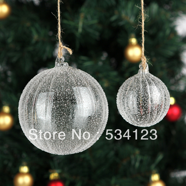 wholesale 10dia6cm christmas glass balls tree decoration ornaments with glass particulate xmas glass