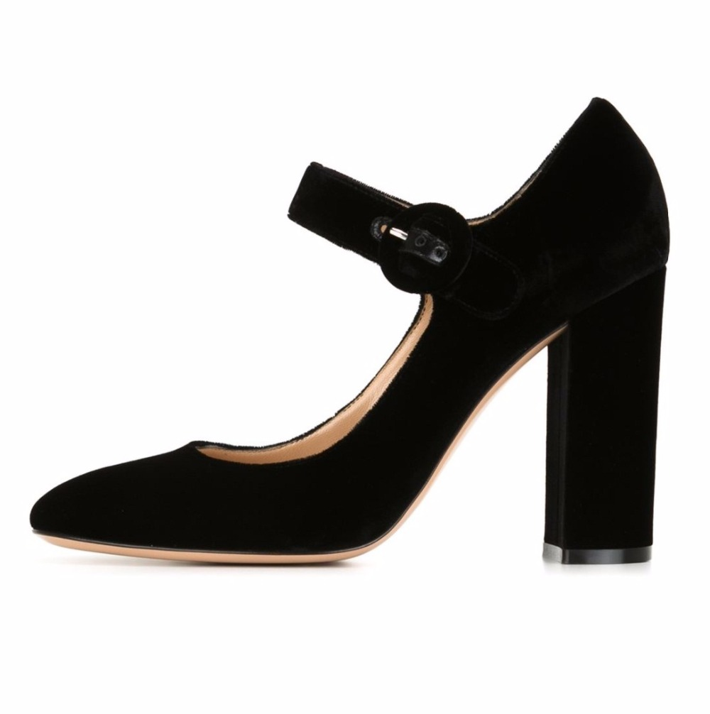badad5e037ac4 Amourplato Womens Round Toe Chunky Heel Mary Jane Pumps Thick Heels Almond Toe  Office Party Business Dress Shoes Size 5 13-in Women s Pumps from Shoes on  ...