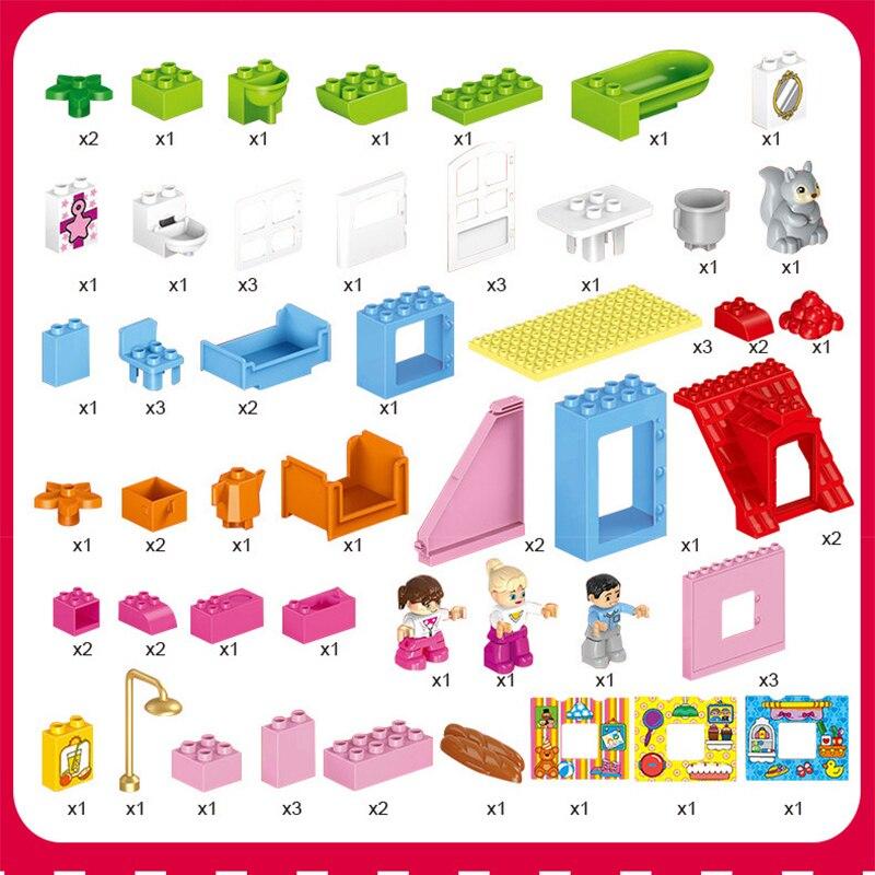 78-PCS-Large-Size-Pink-villa-Girls-Big-Building-Blocks-set-Kids-DIY-Bricks-Model-Toys