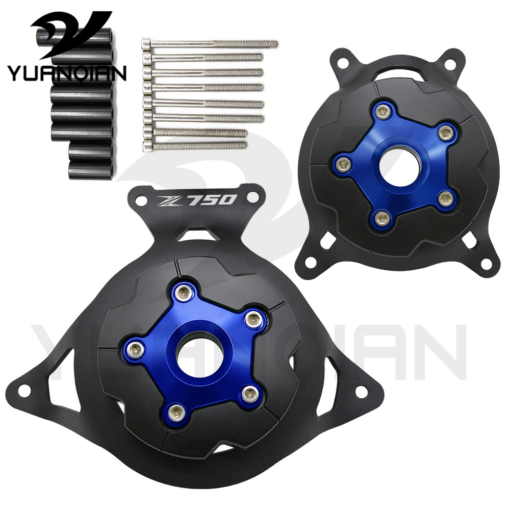 For Kawasaki  Z750 2008-2016 motorcycle Accessories CNC engine protective cover protector engine stator cover for kawasaki z750 motorcycle engine stator cover aluminium alloy engine guard protector with z750 logo for z750 2013 2014 2017