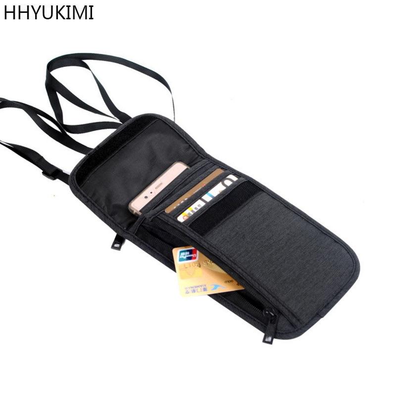 HHYUKIMI Neck Hanging Travel Passport Cover Wallet ID Holder Storage Clutch Money Bag Travel Multifunction Credit Card Package