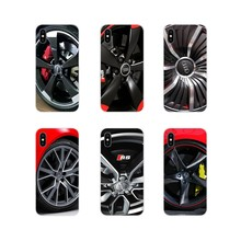 For Huawei Mate Honor 4C 5C 5X 6X 7 7A 7C 8 9 10 8C 8X 20 Lite Pro Hot Audi Car Wheel Pattern Accessories Phone Shell Covers(China)