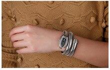 CUSSI 2018 Gold Luxury Serpentine Womens Watches Fashion Quartz Wristwatches Ladies Bracelet Watch Snake Clock Reloj Mujer Gifts