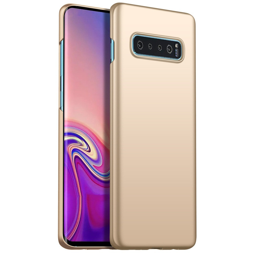 For Samsung Galaxy S10 6.0 Inch Ultra-Thin Luxury Hard PC Protective Case Cover Simple Solid Color Business People Must Non-Slip