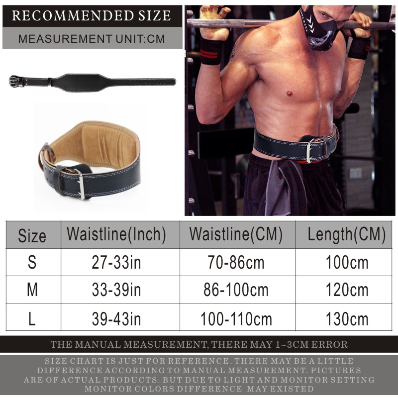 US $22 04 40% OFF|FDBRO Weight Lifting Belt Leather Dumbbell Barbell Belt  Gym Fitness Crossfit Training Squats Powerlifting Lumbar Protection-in