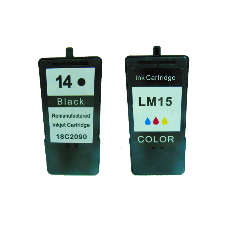 vilaxh for lexmark 14 15 ink cartridges Black & Color Lexmark Z2300 Z2320 X2650 X2600 X2670 Printer