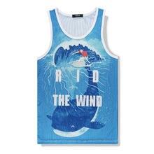 Beach Casual Whale Vest Men 100% Cotton Quick Drying Undershirt Jersey Boys Uniforms Tank Tops Loose Undershirt Brand Vest Shirt