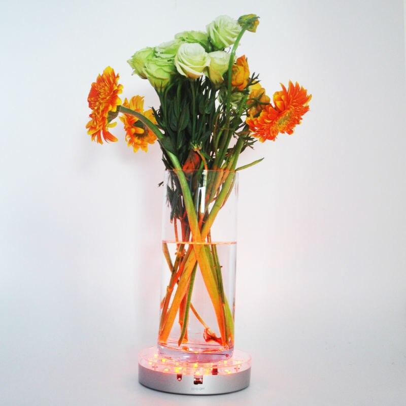 15cm Uplight Led Base Light Rgb Color Changing Under Vase Led