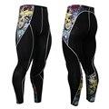 Compressão dos homens Treino Inferior 3D Imprime Vestuário Masculino Calças Skinny Legging Camada de Base Collants Calças de Fitness Trump